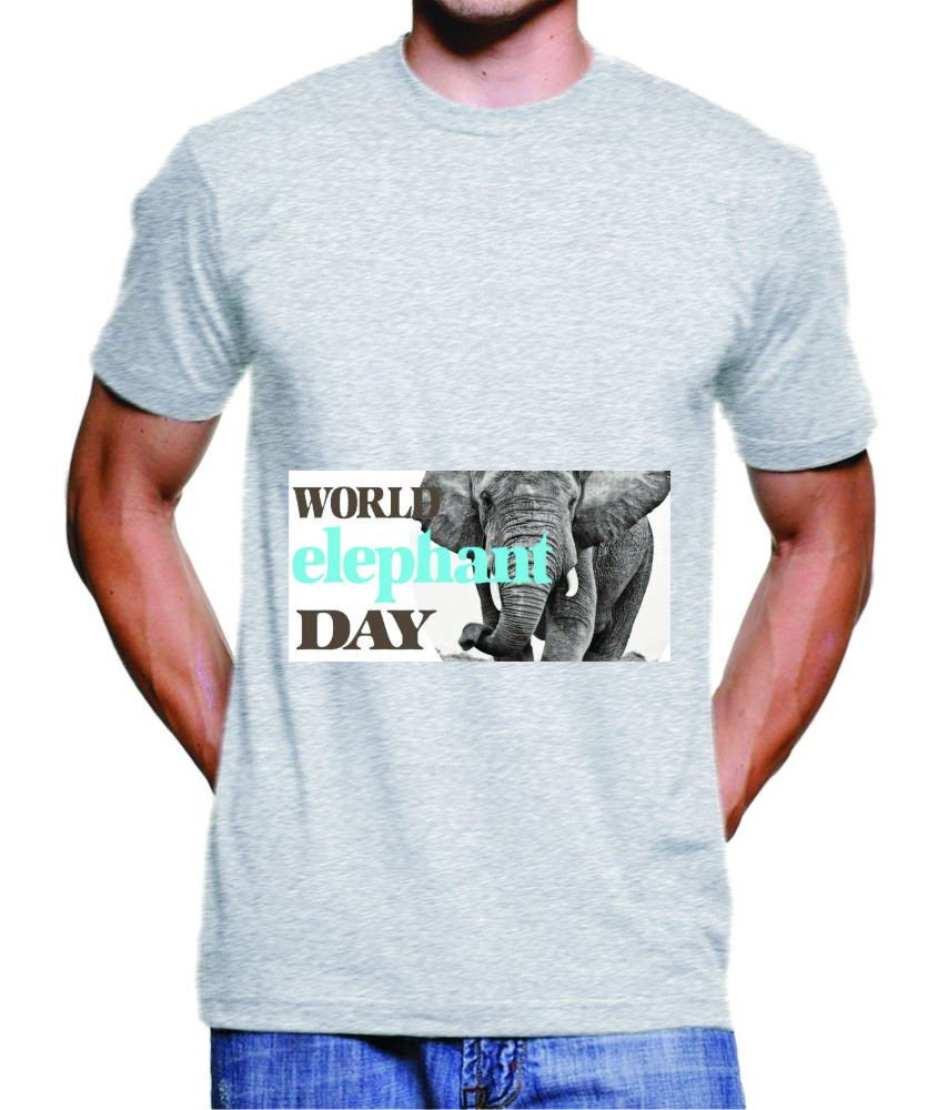 World elephant day publicity t shirts elephant day event t for T shirt distributor manufacturers